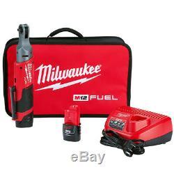 Milwaukee 2556-22 12-Volt 1/4-Inch 40-Ft-Lbs. Lithium-Ion Cordless Ratchet Kit