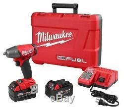 Milwaukee 2754-22 M18 FUEL 3/8 Impact Wrench Friction Ring Kit 5.0 Batteries