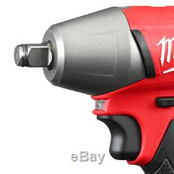 Milwaukee 2755B-22 M18 FUEL 18-Volt 1/2-Inch Compact Impact Wrench with Batteries