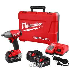 Milwaukee 2755-22 M18 FUEL 18-Volt 1/2-Inch Compact Impact Wrench with Batteries