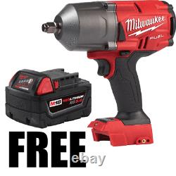 Milwaukee 2767-20 1/2 High Torque Impact Wrench with 48-11-1850 18V 5Ah Battery