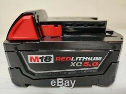 Milwaukee 2767-20 M18 FUEL 1/2 1400 FT/LBS 5.0 Ah High Torque Wrench Impact Kit