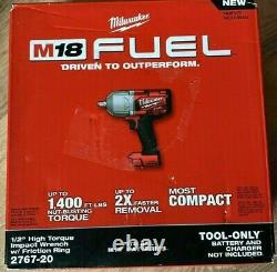 Milwaukee 2767-20 M18 FUEL High Torque 1/2 Impact Wrench with Friction Ring NEW