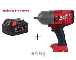 Milwaukee 2767-20 M18 FUEL High Torque ½ Impact Wrench & 5.0ah Battery