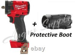 Milwaukee 2855-20 M18 1/2 Drive Stubby Impact Wrench Bare Tool with Boot