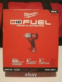 Milwaukee 2860-22-SPECIAL UPGRADE 18V Impact Wrench 2X 6Ah Batt, Charger & Bag FS