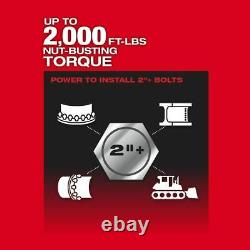 Milwaukee 2868-20 M18 FUEL 1 D-Handle 2000ftlb Impact Wrench (Tool Only)