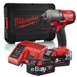 Milwaukee 4933459728 Fuel One-Key High Torque Impact Wrench Kit M18 1/2 5 Amp