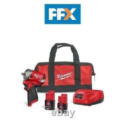 Milwaukee 4933478785 12V 2x2Ah 3/8 Brushless Stubby Impact Wrench Kit