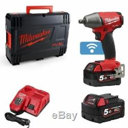 Milwaukee Fuel ONE-KEY 1/2in Dr High Torque Impact Wrench 18v 2 x 5.0Ah 1898Nm