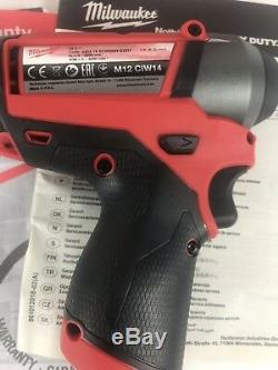 Milwaukee M12CIW14-0 M12 Fuel 12v 1/4in Impact Wrench Body Only