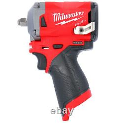 Milwaukee M12FIW38 12V Li-ion FUEL 3/8 Impact Wrench With 2 x 2.0Ah Batteries