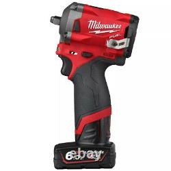 Milwaukee M12FIW38-202B 12V 3/8 Impact Wrench 2 x 2.0Ah Batteries Charger & Bag