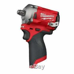 Milwaukee M12FIWF12-0 12v 1/2 Stubby Impact Wrench Cordless Body Only