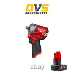 Milwaukee M12FIWF12-0 Cordless 12V Li-ion 1/2in Fuel Impact Wrench 6Ah Battery