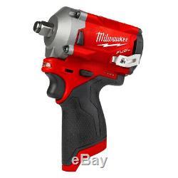Milwaukee M12FIWF12 12V Li-ion FUEL 1/2 Impact Wrench With 2 x 2.0Ah Batteries