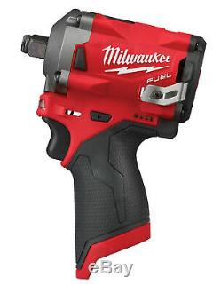 Milwaukee M12 FUEL 1/2 dr Stubby Impact Wrench 250 ft-lbs, Bare Tool #2555-20