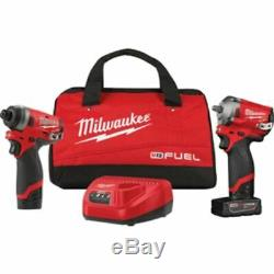 Milwaukee M12 FUEL 2PC 3/8IN & 1/4IN Hex Stubby Auto Kit 2599-22