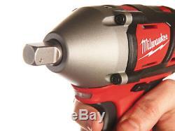 Milwaukee M18BIW12-202C 18v Compact 1/2 Impact Wrench Li-ion 2 x 2.0ah + Kitbox