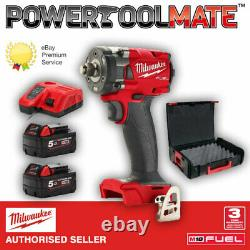 Milwaukee M18FIW2F12-502X Fuel 1/2 Compact Impact Wrench with Friction