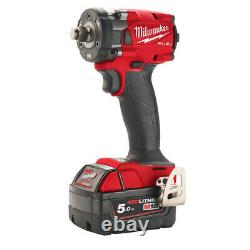 Milwaukee M18FIW2F12-502X Fuel 1/2 Compact Impact Wrench with Friction Ring Kit
