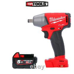 Milwaukee M18FIWF12 18V FUEL 1/2 Friction Ring Impact Wrench + 1 x 5Ah Battery