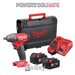 Milwaukee M18FIWF12-502X 18v Friction Ring Impact Wrench 2x 5.0Ah Batteries