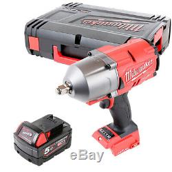 Milwaukee M18ONEFHIWF12 18V Fuel Impact Wrench With 1 x 5Ah Battery & Case