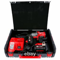 Milwaukee M18ONEFHIWF12-502X 18V Impact Wrench + 2 x 5Ah Batteries, Charger