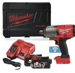 Milwaukee M18ONEFHIWF34-502X FUEL One Key 3/4 Impact Wrench 2 x 5.0Ah+ Charger
