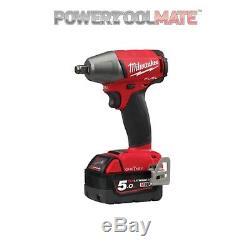 Milwaukee M18ONEIWF12-502X 18v 2 x 5.0Ah Li-ion One Key 1/2In Impact Wrench