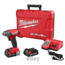 Milwaukee M18 FUEL 18 Volt 3/8 Drive Compact Impact Gun Wrench 2754-22CT