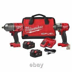 Milwaukee M18 Fuel 3/8 Mid Torque & 1/2 High Torque Impact Wrench Kit 2988-22