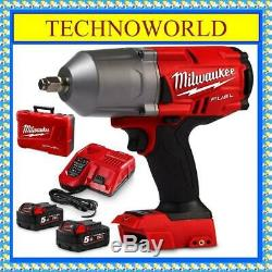 Milwaukee M18fhiwf12-502c Fuel 1/2 Inch High Torque Impact Wrench Combo Kit