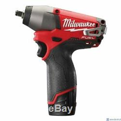 Milwaukee STUBBY Li-ion FUEL 1/2in Impact Wrench M12FIWF12-0 12V M12 (Body Only)