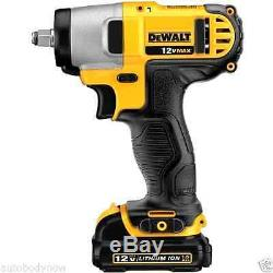 NEW Gun Wrench Kit with Battery and Bag Dewalt 12V Lithium Ion 3/8 Drive Impact