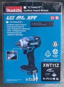 NEW! Makita XWT11Z 18V 1/2 Impact Wrench, Batteries & Dual Charger