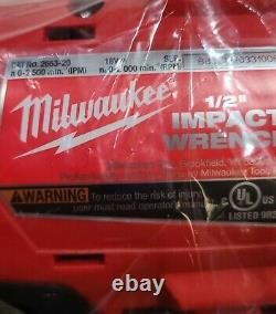 NEW Milwaukee 1/2 Impact Wrench 2663-20 M18 18V with XC3.0 3.0ah Battery