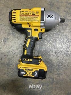 New Dewalt 20 Volt XR DCF899 Brushless 1/2 Impact Wrench DCB205 5.0 AH Battery