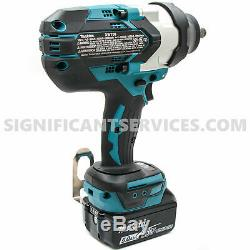 New Makita XWT08Z 18V LXT Li-Ion Brushless 1/2 in Impact Wrench 5.0 Ah Batteries