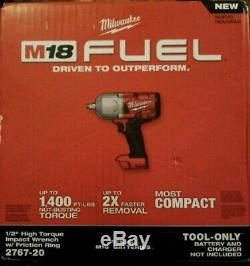 New Milwaukee 2767-20 M18 FUEL High Torque 1/2 Impact Wrench with Friction Ring