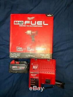 New Milwaukee FUEL 2767-20 18V 1/2 Impact+5.0 Battery+Milwaukee Charger