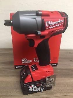 New Milwaukee Fuel M18 2861-20 18V 1/2 Brushless Impact Wrench + (1) 5.0AH Batt