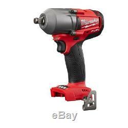 New Milwaukee Fuel M18 2861-20 18V 1/2 Brushless Impact Wrench + (2) 5.0AH Batt