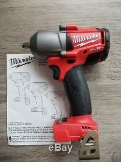 New Milwaukee M18 FUEL 3/8 drive Mid-Torque 600 ft-lb Impact Wrench #2852-20