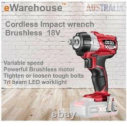 Ozito PXC 18V Cordless Brushless Impact Wrench Skin Only