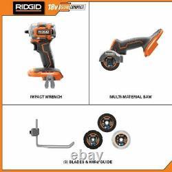 RIDGID Combo Tools 2-Tool 18-Volt Sub-Compact Lithium-Ion Brushless Cordless