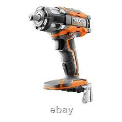 RIDGID R86011 18-Volt OCTANE Cordless Brushless 1/2 4-Mode Impact Wrench