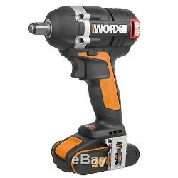 WORX WX279 18V (20V MAX) Cordless Brushless Impact Wrench with 2 x 2Ah Battery