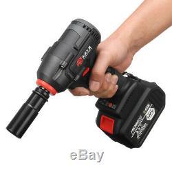128v Brushless Sans Fil Clé À Chocs Marteau Perforateur Led Light & 2 Li-ion Rechargeable